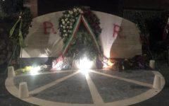 Moro: scritta Br, con vernice rossa, sul monumento appena inaugurato da Mattarella