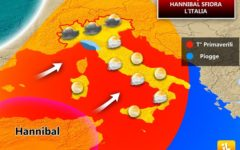 Meteo: torna la pioggia, sabato 30 rovesci sulla Toscana, ma per Pasqua e Pasquetta ci sarà il sole
