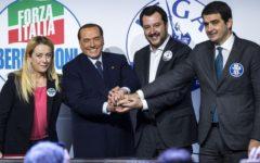 Elezioni: centrodestra promette lavoro, taglio tasse e Italia sicura. Berlusconi, Meloni, Salvini e Fitto giurano