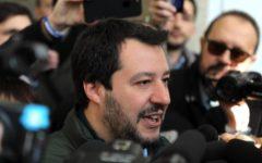 Salvini a Sondrio: «Felice di fare qui il primo intervento da quasi ministro»