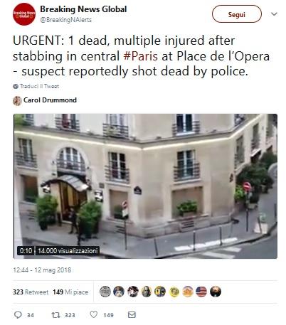 L'aggressore dei passanti a Parigi ha origini cecene