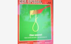 Berlino: uno spaghetto come un cappio, l'immagine dell'Italia di der Spiegel, che continua la sua campagna diffamatoria