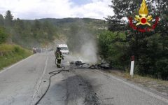 Pieve Santo Stefano: un morto e un ferito grave nello scontro fra due moto