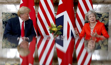 Vertice Gb-Usa, Trump alla May: