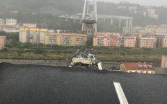Genova: immagini e foto scattate da fiorentini, per fortuna incolumi, che si trovavano sul ponte maledetto