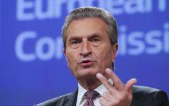 Ue: Commissario tedesco Oettinger minaccia l'Italia. Pesanti sanzioni se non paga contributi