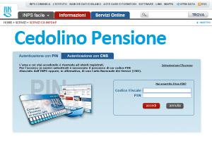 cedolino pensione sito inps