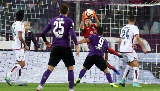 Fiorentina frena: solo 1-1 col Cagliari. Gol di Veretout (rigore al Var) e Pavoletti. Pagelle