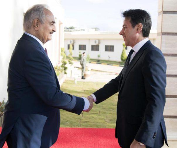 Libia, il Presidente Conte incontra il Generale Haftar