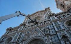 Duomo di Firenze: una squadra si è calata dalla Cupola per monitoraggio esterno