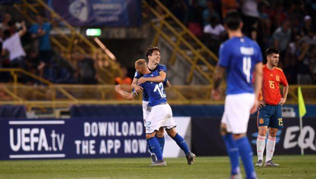 Federico Chiesa (doppietta) trascina l'Italia under 21: battuta la Spagna in rimonta (3-1). Pagelle