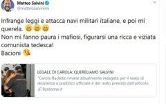 Sea Watch: Carola Rackete querela il ministro Salvini