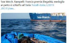 Migranti: protesta di FdI davanti all'ambasciata francese a Roma