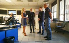 Visita del prefetto Lega alle sale operative delle Forze dell'ordine